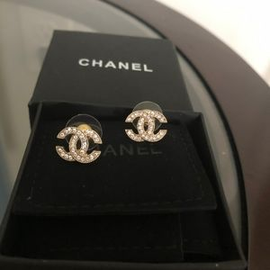 Authentic Chanel Rhinestones Earrings